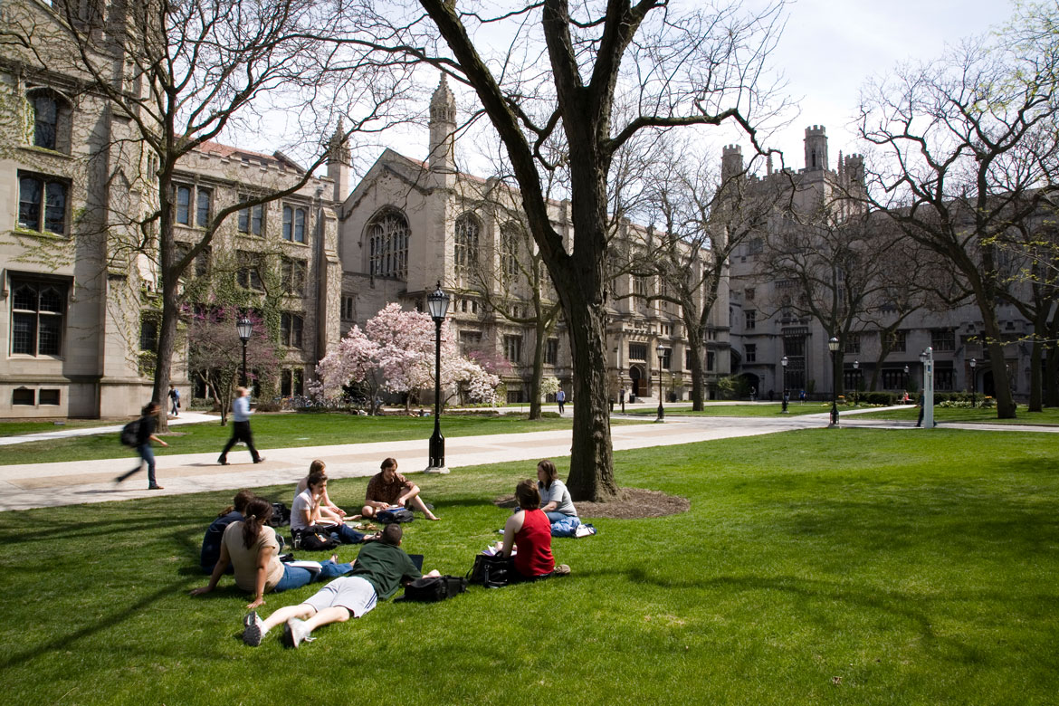 Students on Harper Quad